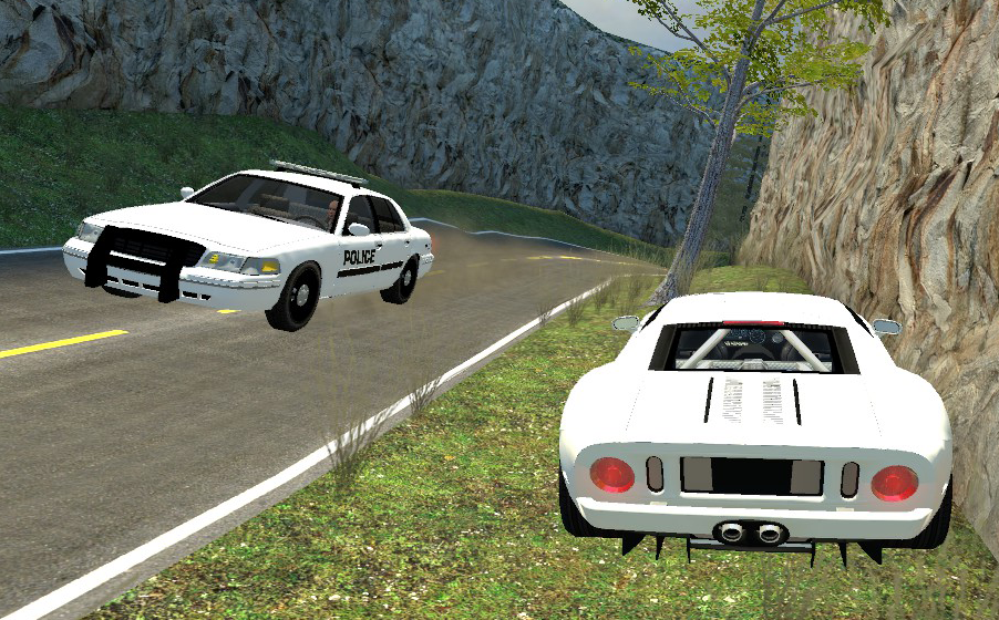 Ford Crown Victoria Police Interceptor And Ford Gt   Version